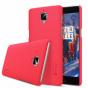 Фирменная задняя панель-крышка-накладка из тончайшего и прочного пластика для OnePlus 3T красная..