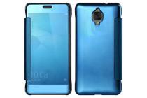 """Чехол-книжка с дизайном Clear View Cover полупрозрачный с зеркальной поверхностью для OnePlus 3T A3010/ OnePlus 3 A3000 / A3003""""  синий"""