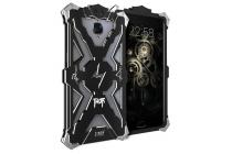 Противоударный металлический чехол-бампер из цельного куска металла с усиленной защитой углов и необычным экстремальным дизайном  для OnePlus 3T черного цвета