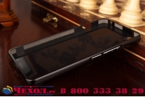 """Фирменная металлическая задняя панель-крышка-накладка из тончайшего облегченного авиационного алюминия для OnePlus X / One + X/ E1001 5.0""""  черная"""