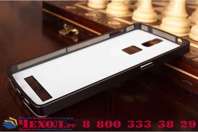 Фирменная металлическая задняя панель-крышка-накладка из тончайшего облегченного авиационного алюминия для OnePlus One черная