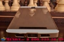 Фирменная металлическая задняя панель-крышка-накладка из тончайшего облегченного авиационного алюминия для OnePlus One золотая