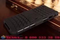 """Противоударный усиленный ударопрочный фирменный чехол-бампер-пенал для OnePlus X / One + X/ E1001 5.0""""  черный"""