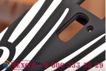 """Фирменная задняя панель-чехол-накладка с объёмным 3D изображением для OnePlus One """"тематика Зебра"""""""