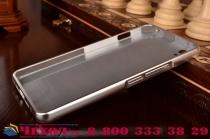 """Фирменная металлическая задняя панель-крышка-накладка из тончайшего облегченного авиационного алюминия для OnePlus X / One + X/ E1001 5.0"""" серебристая"""