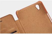 """Фирменный премиальный элитный чехол-книжка из качественной импортной кожи с мульти-подставкой и визитницей для OnePlus X / One + X/ E1001 5.0"""" """"Ретро"""" красный"""