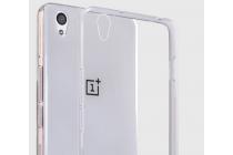 """Фирменная ультра-тонкая полимерная из мягкого качественного силикона  с заглушками задняя панель-чехол-накладка для OnePlus X / One + X/ E1001 5.0"""" серебристая"""