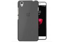 """Фирменная ультра-тонкая полимерная из мягкого качественного силикона задняя панель-чехол-накладка для OnePlus X / One + X/ E1001 5.0"""" черная"""