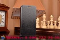 """Фирменный чехол-книжка из качественной водоотталкивающей импортной кожи на жёсткой металлической основе для  OnePlus X / One + X/ E1001 5.0"""" черный"""