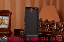 Противоударный усиленный ударопрочный фирменный чехол-бампер-пенал для OnePlus One черный