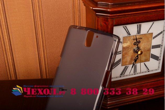 Фирменная ультра-тонкая полимерная из мягкого качественного силикона задняя панель-чехол-накладка для OnePlus One черная