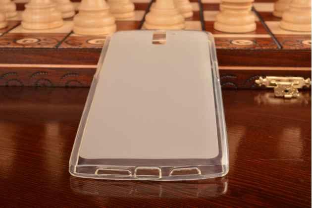 Фирменная ультра-тонкая полимерная из мягкого качественного силикона задняя панель-чехол-накладка для OnePlus One белая
