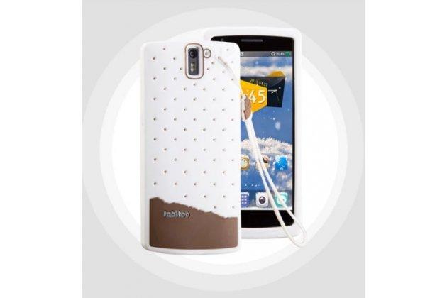 """Фирменная необычная уникальная полимерная мягкая задняя панель-чехол-накладка для OnePlus One """"тематика Андроид в Белом Шоколаде"""""""