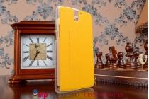 Фирменный оригинальный чехол-книжка для One Plus One желтый кожаный с окошком для входящих вызовов