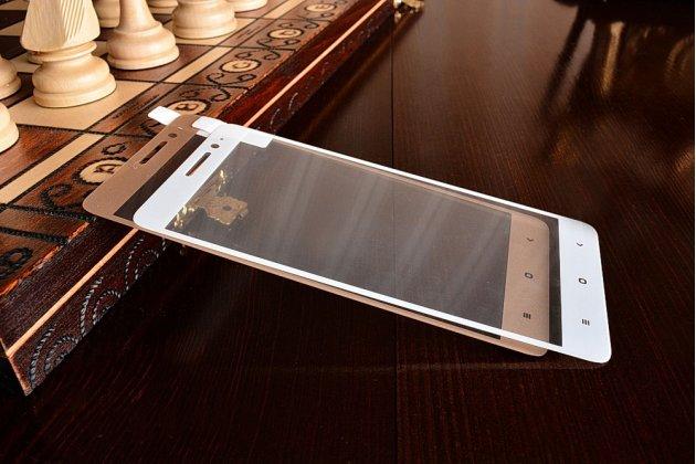 Фирменное 3D защитное изогнутое стекло с закругленными изогнутыми краями которое полностью закрывает экран / дисплей по краям с олеофобным покрытием для Xiaomi Redmi Note 3 Pro SE (Special Edition) / 152.5 мм / Android 6.0