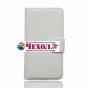 Фирменный чехол-книжка для Oukitel K10000 с визитницей и мультиподставкой белый кожаный..