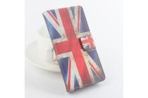 """Фирменный уникальный необычный чехол-книжка для Oukitel K4000 """"тематика Британский флаг"""""""