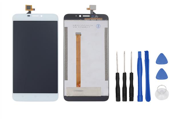 Фирменный LCD-ЖК-сенсорный дисплей-экран-стекло с тачскрином на телефон Oukitel U20 Plus белый + гарантия