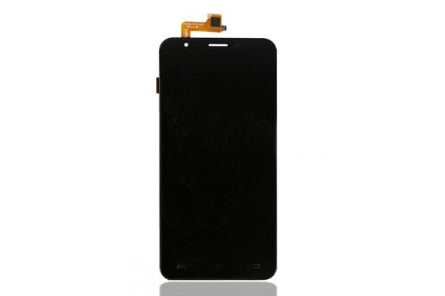 Фирменный LCD-ЖК-сенсорный дисплей-экран-стекло с тачскрином на телефон Oukitel U7 черный