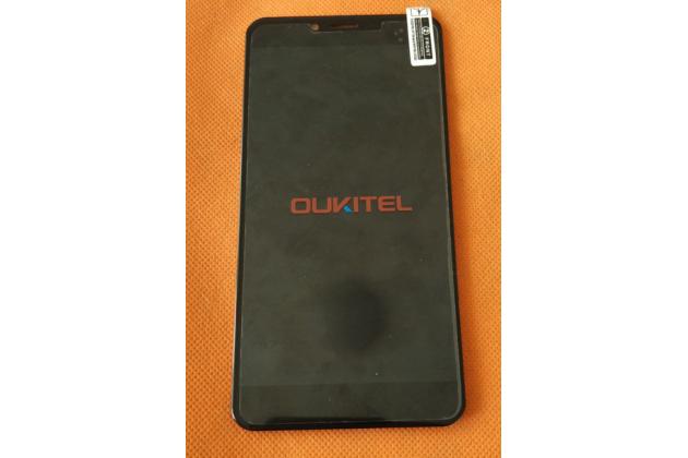Фирменный LCD-ЖК-сенсорный дисплей-экран-стекло с тачскрином на телефон OUKITEL U15S черный + гарантия