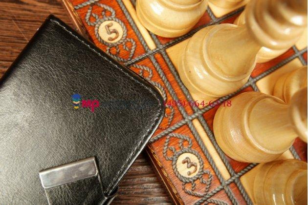 Чехол-книжка для Oysters Indian 400 черный кожаный