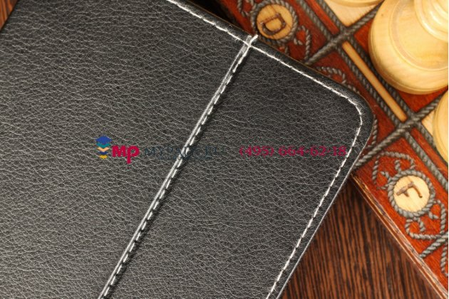 Чехол-обложка для Oysters T37 черный кожаный