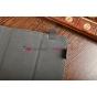 Чехол-обложка для Oysters T37 синий с красной полосой кожаный