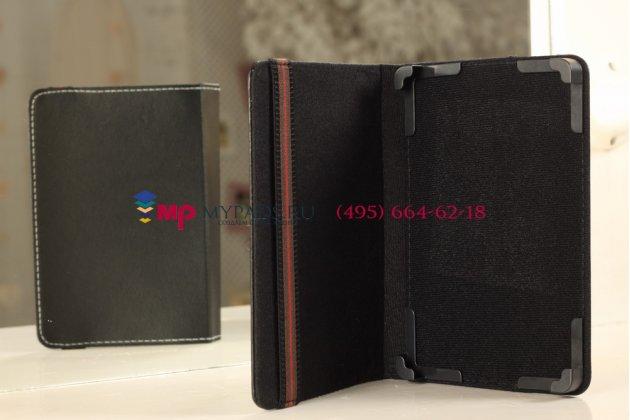 Чехол-обложка для Oysters T84 3G черный кожаный