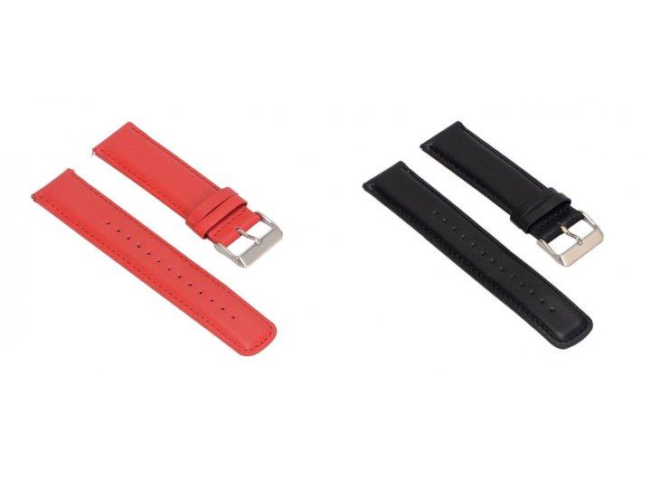 Фирменный сменный кожаный ремешок для умных смарт-часов Pebble SmartWatch/ Time Steel 22mm из качественной имп..