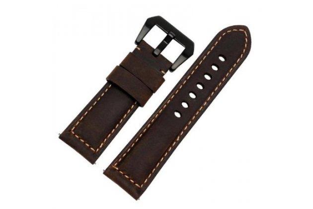 Фирменный сменный кожаный ремешок для умных смарт-часов Pebble SmartWatch/ Time Steel из качественной импортной кожи