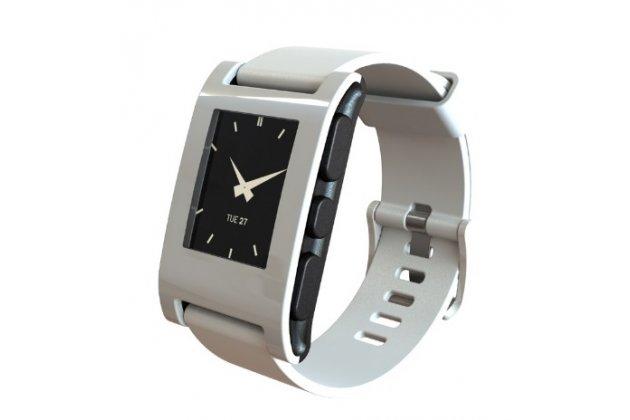 Фирменное защитное закалённое противоударное стекло премиум-класса из качественного японского материала с олеофобным покрытием для часов Pebble SmartWatch