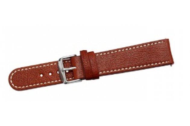 Фирменный сменный кожаный ремешок для умных смарт-часов Pebble Time Round из качественной импортной кожи