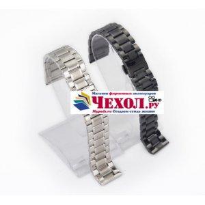 Фирменный сменный металлический ремешок для умных смарт-часов Pebble Time из нержавеющей стали с замком-застежкой