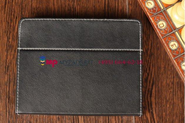 Чехол-обложка для Perfeo 9106-HD черный кожаный