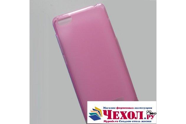 """Фирменная ультра-тонкая силиконовая задняя панель-чехол-накладка для Philips S326 5.0"""" розовая"""