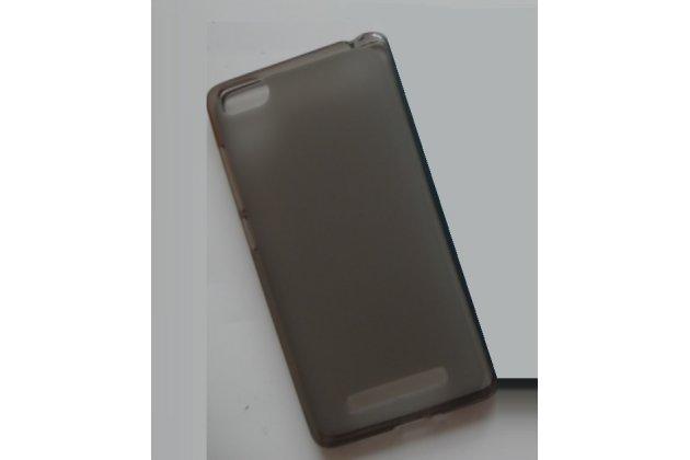 """Фирменная ультра-тонкая силиконовая задняя панель-чехол-накладка для Philips S326 5.0"""" серая"""