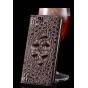 Фирменный элегантный экзотический чехол-книжка с фактурной отделкой натуральной кожи крокодила кофейного цвета..