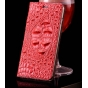 Фирменная неповторимая экзотическая чехол-книжка обтянутая кожей крокодила с фактурным тиснением для Philips X..