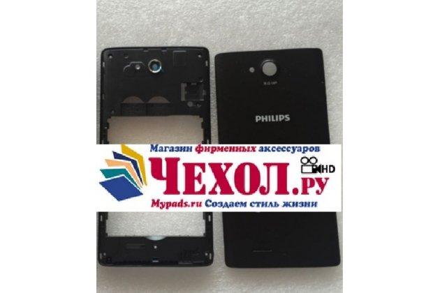 Родная оригинальная задняя крышка-панель которая шла в комплекте для Philips Xenium W3500 черная
