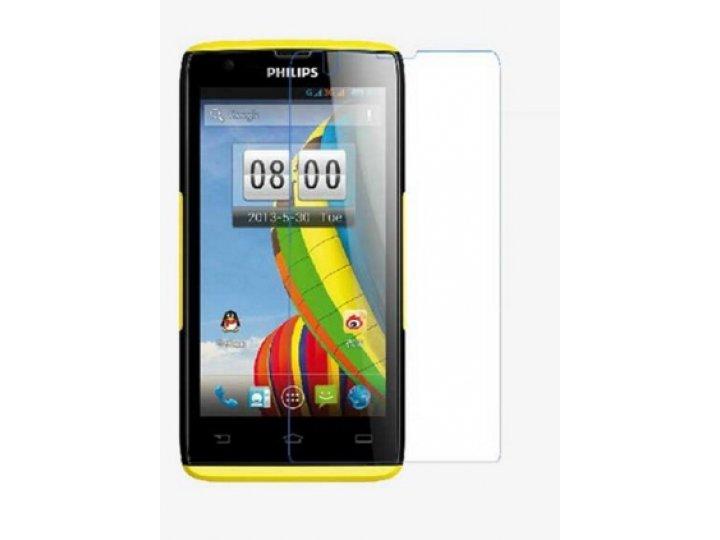 Фирменная оригинальная защитная пленка для телефона Philips Xenium W6500  глянцевая..