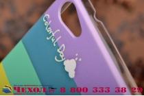 """Фирменная необычная из легчайшего и тончайшего пластика задняя панель-чехол-накладка для Philips Xenium W6618  """"тематика Все цвета Радуги"""""""