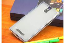 Фирменная ультра-тонкая полимерная из мягкого качественного силикона задняя панель-чехол-накладка для Philips i999 белая