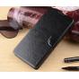 Фирменный чехол-книжка из качественной импортной кожи с мульти-подставкой застёжкой и визитницей для Филипс И9..