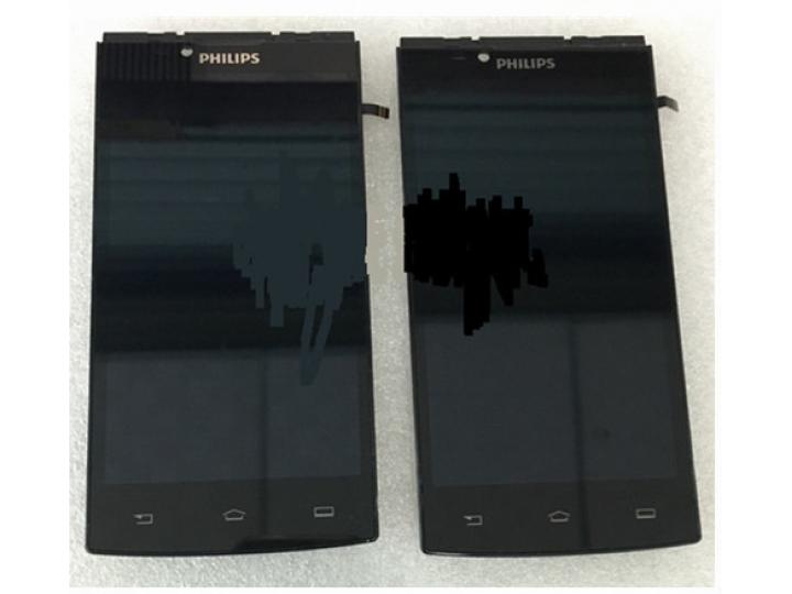 Фирменный LCD-ЖК-сенсорный дисплей-экран-стекло с тачскрином на телефон Philips S398 черный..