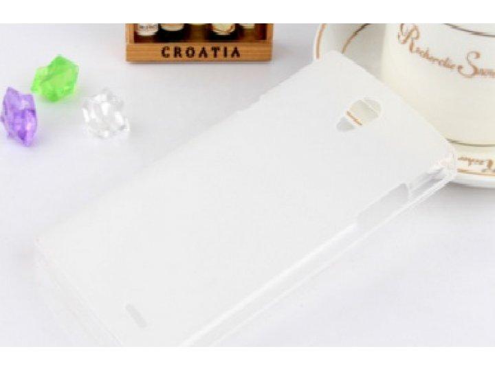 Фирменная ультра-тонкая полимерная из мягкого качественного силикона задняя панель-чехол-накладка для  Philips..