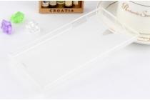 Фирменная ультра-тонкая полимерная из мягкого качественного силикона задняя панель-чехол-накладка для  Philips S398 белая