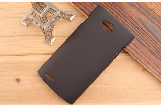 Фирменная задняя панель-крышка-накладка из тончайшего и прочного пластика для Philips S301/S308 черная