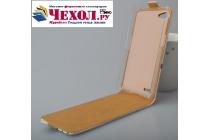 """Фирменный вертикальный откидной чехол-флип для Philips Xenium W6610   """"тематика Цветок Вишни"""""""
