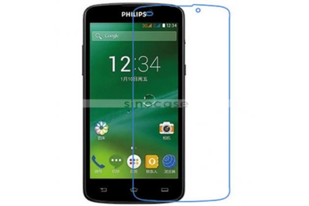 Фирменная оригинальная защитная пленка для телефона Philips Xenium V387 глянцевая