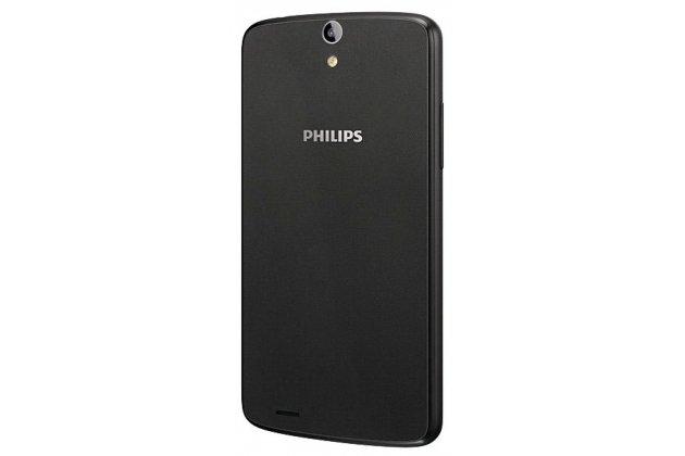Родная оригинальная задняя крышка-панель которая шла в комплекте для Philips Xenium V387 черная